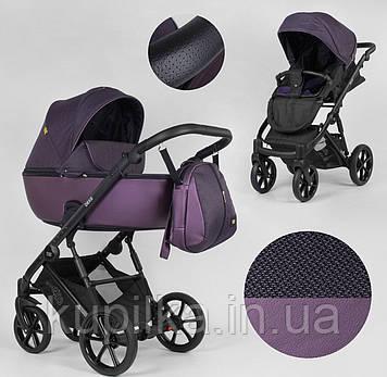 Детская коляска универсальная 2 в 1 Expander DEXO D-42303 цвет Plum,водоотталкивающая ткань и эко-кожа
