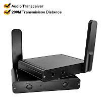 Комплект цифровой передачи аудио HiFi AUX Nsendato RF200 cтерео звук студийного качества на расстоянии до 200м