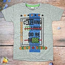 Сіра футболка для підлітка Розміри: 128,134,140,146,152 см (01924-3)