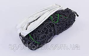 Сетка для волейбола р 9,5x1м, ячейка 12x12см, с металлическим тросом  C-5641