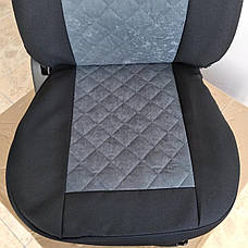 Майки на передние сидения МАХ алькантара комплект 1+1 серый, фото 2