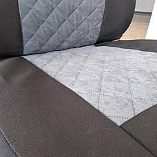 Майки на передние сидения МАХ алькантара комплект 1+1 серый, фото 3