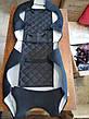 Майки на передние сидения МАХ алькантара комплект 1+1 серый, фото 5