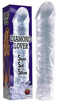 Фалоімітатор DIAMOND LOVER (прозорий)