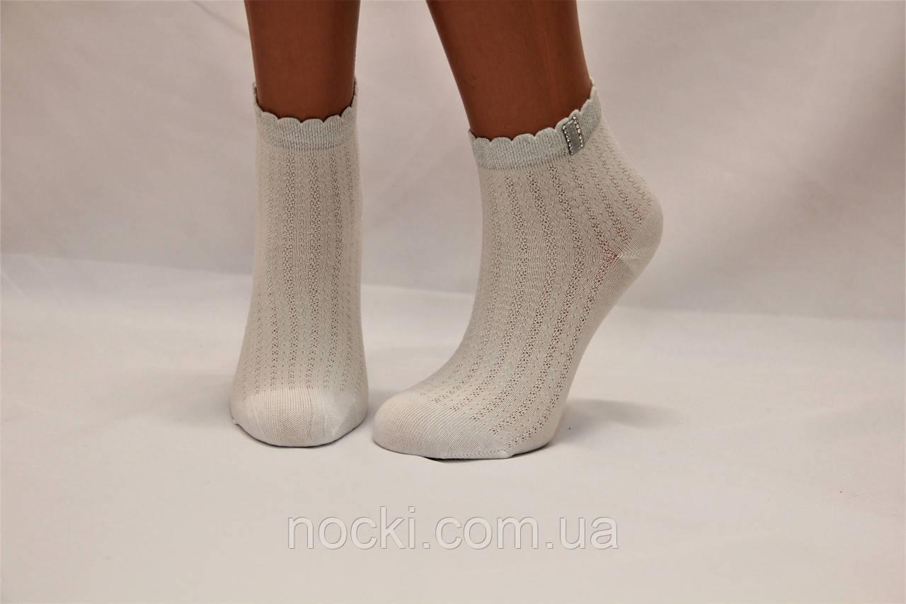 Детские носки белые,ажурные с аксесуарами P-640.307 Pier Lone 7-8 белый p-307 c камушками