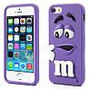 Чехол M&Ms фиолетовый из высококачественного силикона для iphone 5/5s