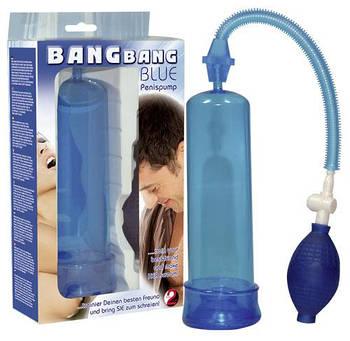 Помпа для пениса BANG BANG (голубая)