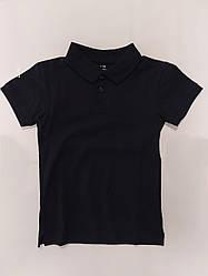 Детская футболка поло тениска для мальчика для школы цвет темно синий на рост 140-158 см