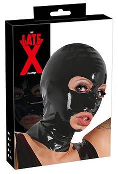 Латексная маска с отверстиями (черная)