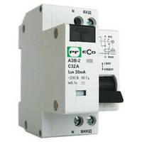 Автоматический выключатель защитного отключения ECO АЗВ-2-C10A-30-230