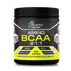 БЦАА Powerful Progress BCAA 2:1:1 500 грамм Арбуз