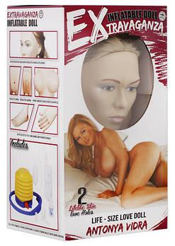 Надувна лялька з вібрацією Антонія Видра