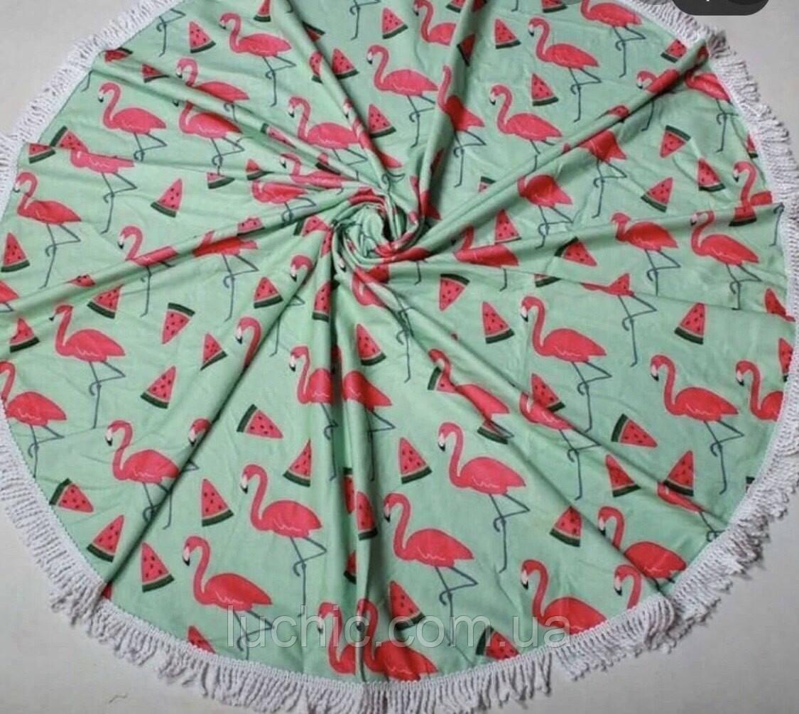 Круглые Пляжные полотенце Арбуз  фибра 150 в диаметре