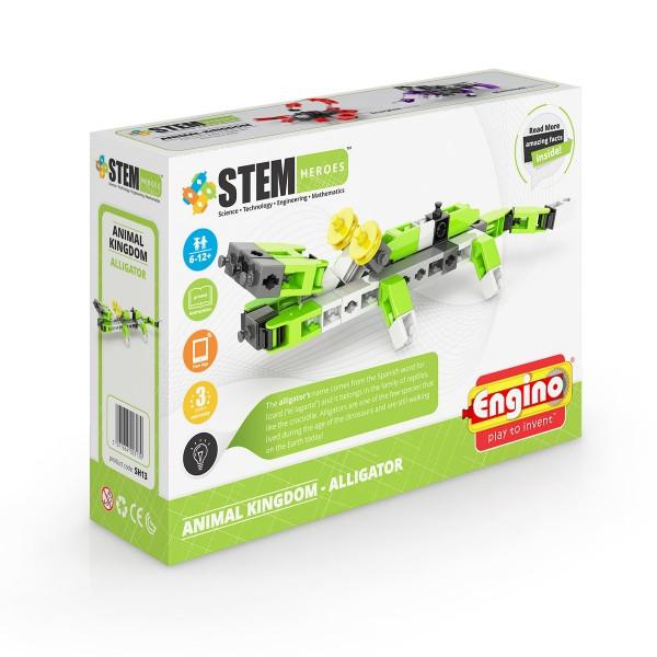 Дитячий Конструктор серії STEM HEROES - Царство тварин: алігатор