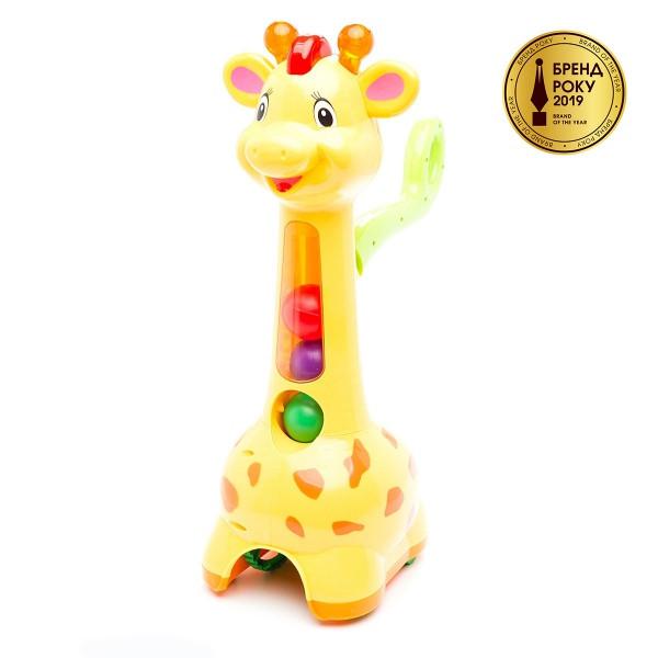Каталка для дітей з ручкою - Жираф (світло, звук), Kiddieland