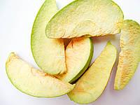 Яблоки дольками зеленые 100г сублимированные, натуральный фрукт от украинского производителя