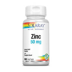 Цинк Solaray Zinc 50 mg 100 капсул