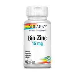 Цинк Solaray Bio Zinc 15 mg 100 капсул