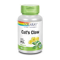 Кошачий коготь экстракт Solaray Cat`s Claw 500 mg 100 капсул