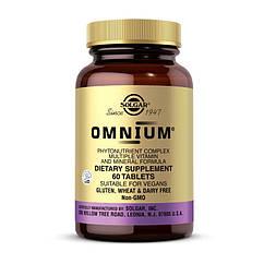 Комплекс витаминов Solgar Omnium 60 таблеток