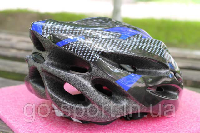 Шлем велосипедный Carbon blue