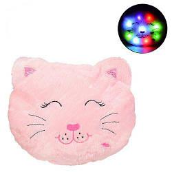 """Игрушка-подушка с подсветкой """"Котик"""", розовый BL0909"""