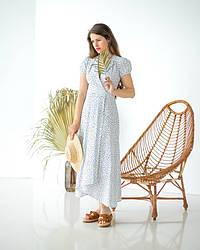 Сукня лляна літня з принтом