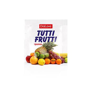 """Оральный гель """"Tutti-frutti тропик"""" 4г"""