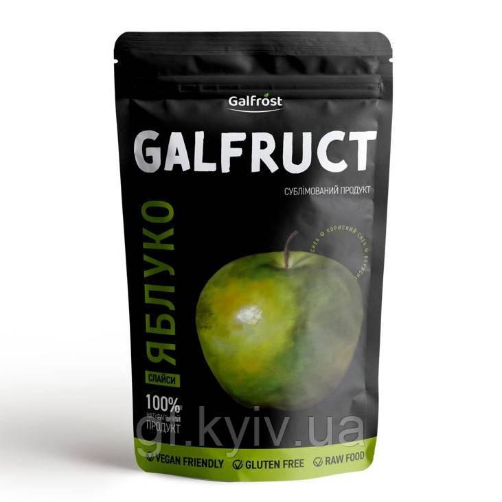 Яблоки дольками зеленые 15г сублимированные, натуральный фрукт от украинского производителя