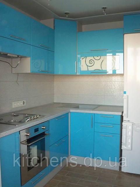 Голубая кухня угловая кухонный гарнитур авито ру