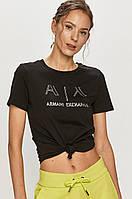 Футболка жіноча Armani Exchange, армані чорна, фото 1