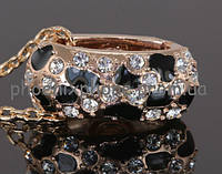 Невероятный кулон с кристаллами Swarovski + цепочка, покрытые золотом  (307141)