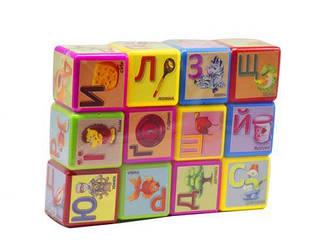Кубики Азбука 12 штук, велика (укр) 18231