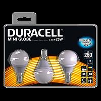 Лампы светодиодные 3 шт. DURACELL 3.8W > 25W (E14)