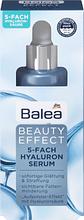 Сыворотка на основе 5 видов гиалуроновой кислоты Balea Serum Beauty Effect mit 5-Fach Hyaluron 30мл