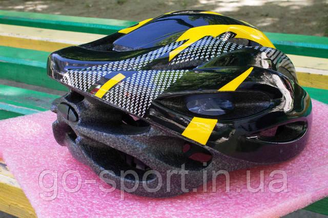 Шлем велосипедный Carbon yellow