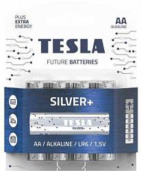 Батарейки TESLA AA SILVER+ (LR06), 4 штуки