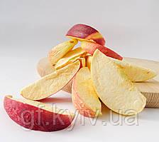 Яблоки дольками красные 100г сублимированные, натуральный фрукт от украинского производителя