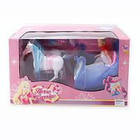 """Набор игровой """"Карета с лошадьми и куклой"""" 8603"""