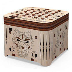 """Дерев'яний конструктор """"Скринька. Таємниця тигра"""", 89 ел 10606"""