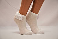 Детские носки белые,ажурные с аксесуарами P-640.307 Pier Lone 7-8 белый p-640 c бантом