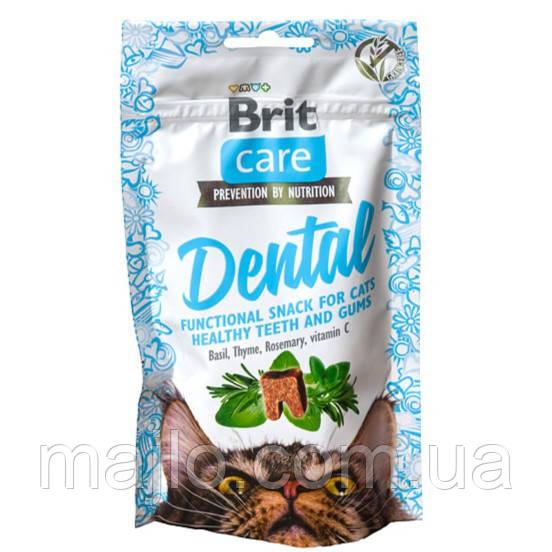 Функціональні ласощі Brit Dental Care з індичкою для котів 50г 111263/ 1371