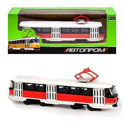 """Трамвай із серії """"Автопром"""", червоний 6411D"""