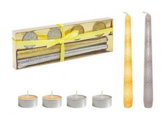 Подарочный набор свечей, серебристый BH1203