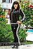 Спортивный костюм большого размера Адидас лопух спина черный