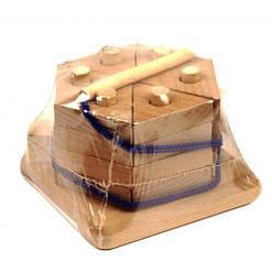 """Пірамідка """"Тортик"""", нефарбована Д025н"""