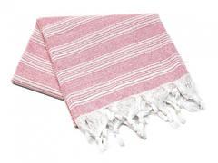 Пештемаль рушник з бахромою 95*165см рожеве