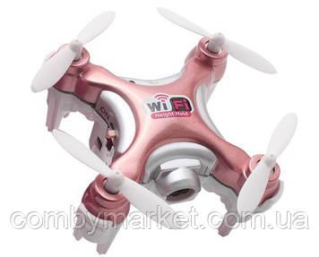 Квадрокоптер нано р/к Cheerson CX-10WD-TX з камерою Wi-Fi (рожевий)