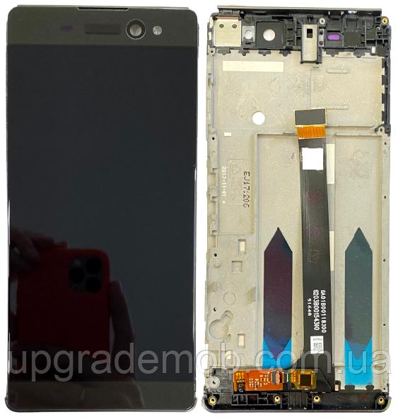 Дисплей Sony F3211 Xperia XA Ultra/F3212/F3213/F3215/F3216 тачскрин модуль серый Graphite Black в рамке