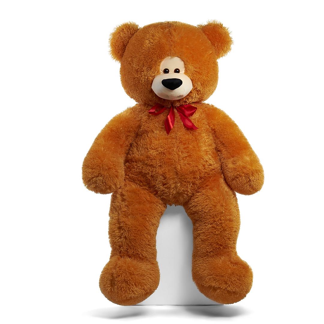 Плюшевый мишка Боря 180 см цвет карамель | Плюшевые медведи | Магазин плюшевые медведи